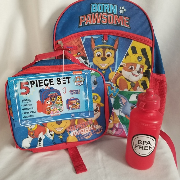 Nickelodeon Other - NWT Paw Patrol 5 Piece Backpack